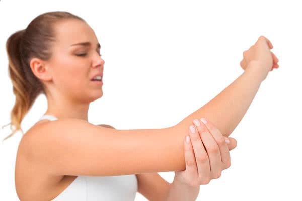 Боль в локте правой руки